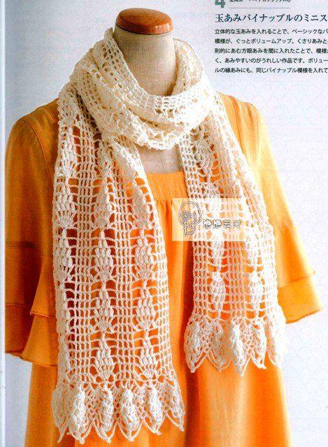 ажурные шарфы крючком схемы шарфы шарф вязание вязаные