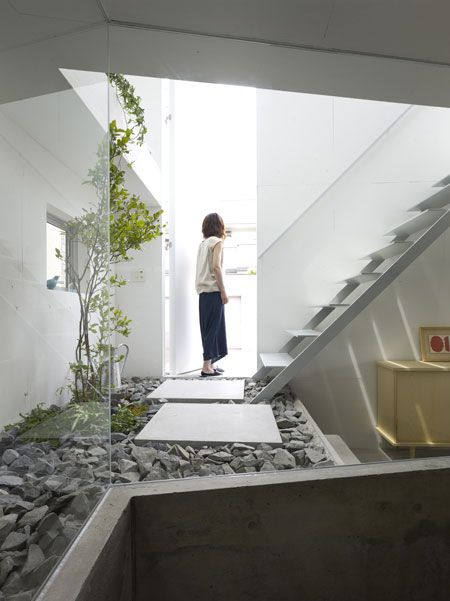 Amazing House Design In Japan A Garden Inside The House
