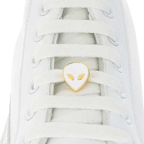 0a0a78d328082 UFO fans will enjoy on their sneakers this quirky golden tone ...