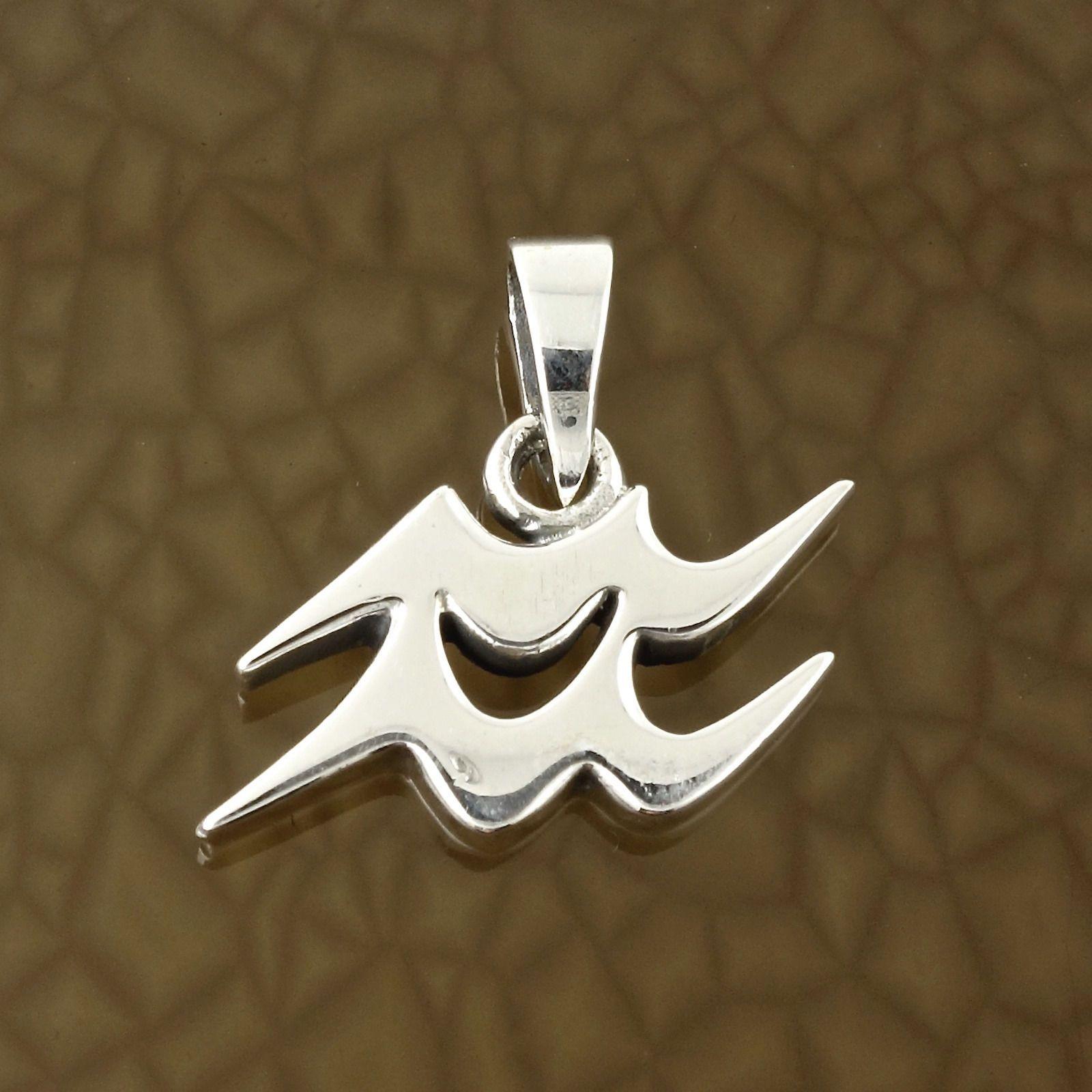 Aquarius zodiac symbol pendant in solid 925 sterling silver aquarius zodiac symbol pendant in solid 925 sterling silver symbolic charm this pendant is biocorpaavc Image collections