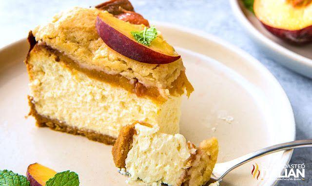Peach Cobbler Cheesecake #peachcobblercheesecake Peach Cobbler Cheesecake #peachcobblercheesecake