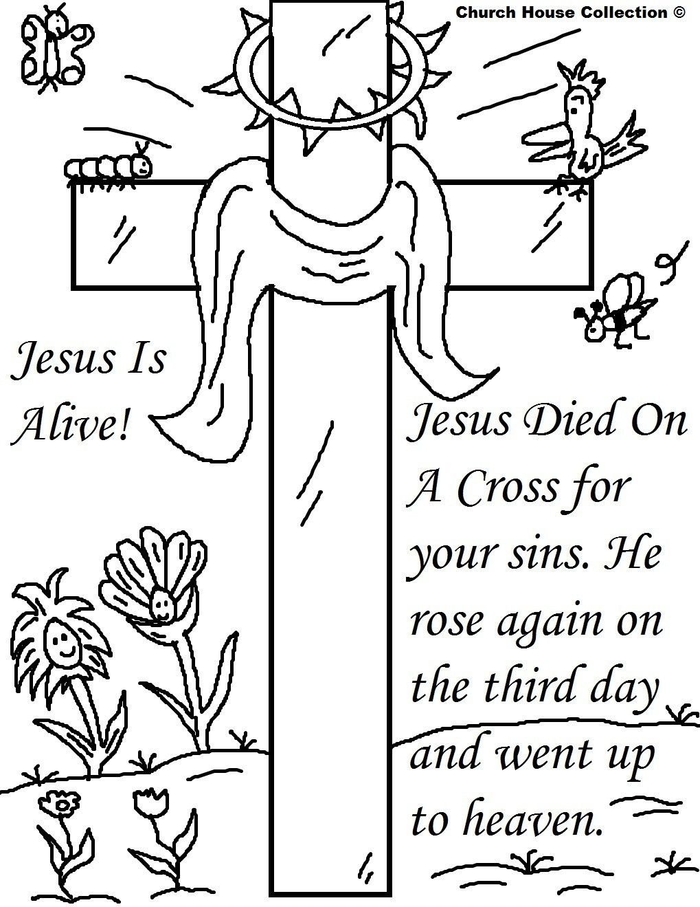 Free Christian Coloring Pages For Kids Printable Easter Sunday School Easter Coloring Pages Easter Christian