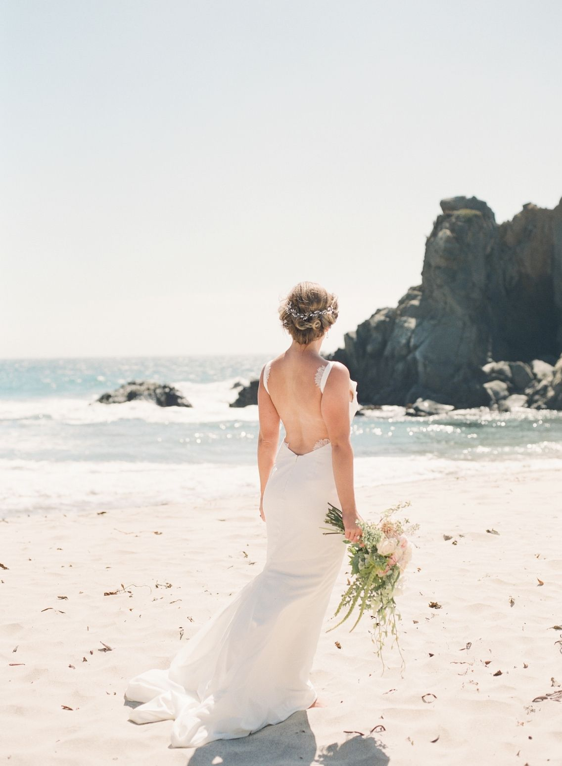 Beach Bridal hair, Wedding hair, Big Sur Beach wedding, Bridal ...