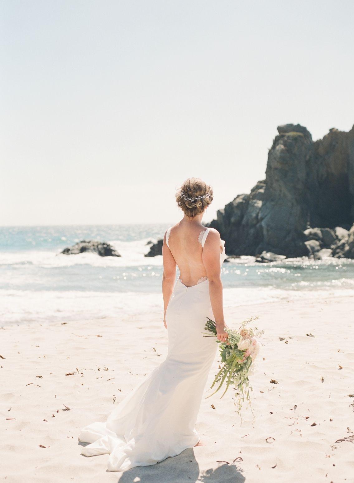 Beach Bridal Hair Wedding Hair Big Sur Beach Wedding Bridal