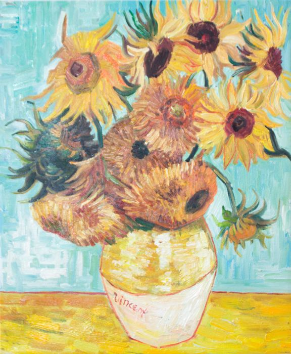 Zwölf Sonnenblumen Von Vincent Van Gogh Art Van Gogh Painting