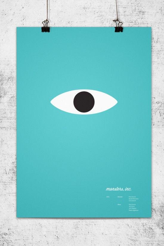 Wonchan Lee's Pixar minimal poster - Monsters, inc.