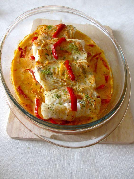 Dos de cabillaud et sa sauce poivronn e diet d lices - Cuisiner dos cabillaud ...