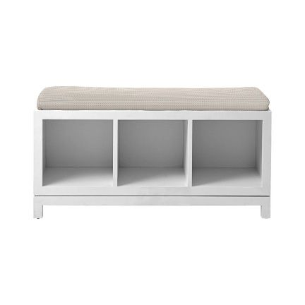 Swell Campaign Storage Bench White Serena Lily 41 W X 15 Evergreenethics Interior Chair Design Evergreenethicsorg