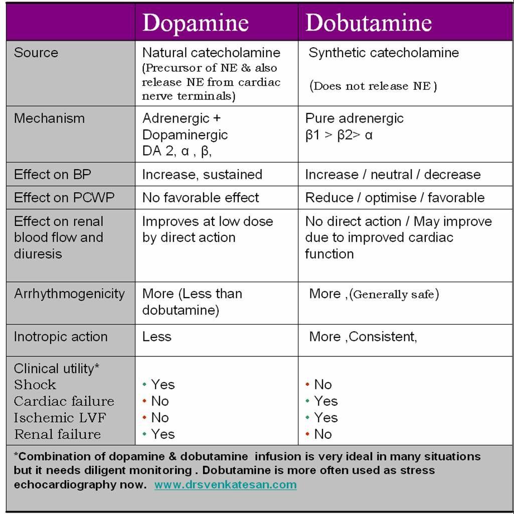 dopamine-dobutamine | Pharmacology, Medical and School