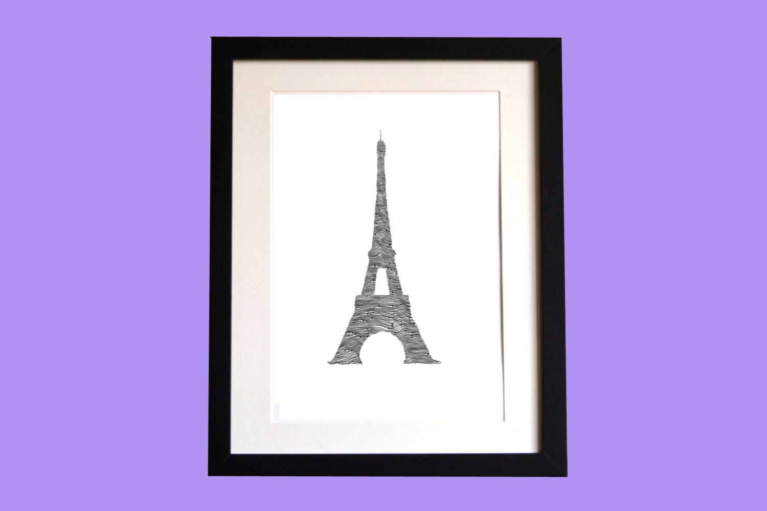 Eiffel Tower Original Line and Circle by ClaireHefferDesign, £30.00