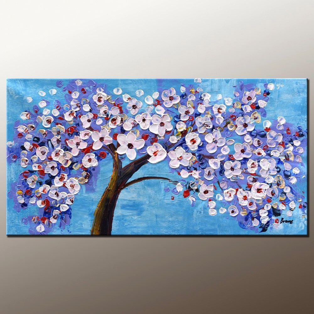 Blumen Malerei Leinwand Kunst gerahmte Kunst moderne Kunst abstrakte ...