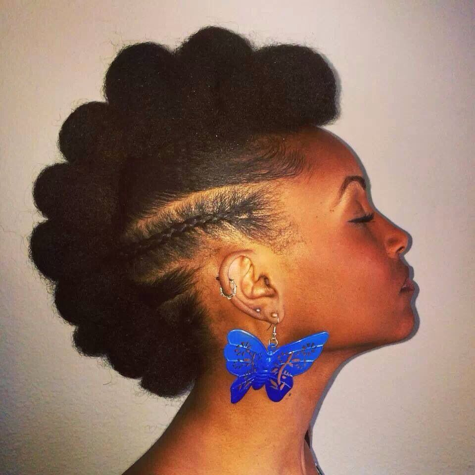 Natural fro hawk natural up dos pinterest natural hair style