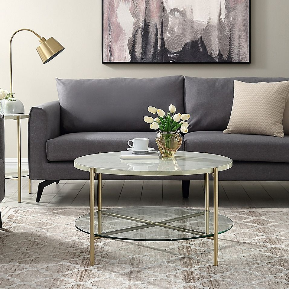Forest Gate 32 Giselle Modern Round Faux Marble Coffee Table Bed Bath Beyond Coffee Table Faux Marble Coffee Table Coffee Table Small Space [ 956 x 956 Pixel ]