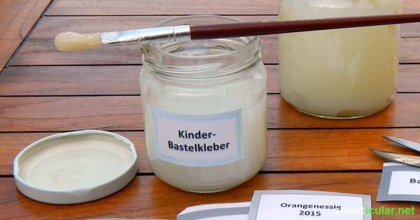 Essbaren Klebstoff zum Basteln für Kinder selbermachen - ungiftig, wasserlöslich und haltbar
