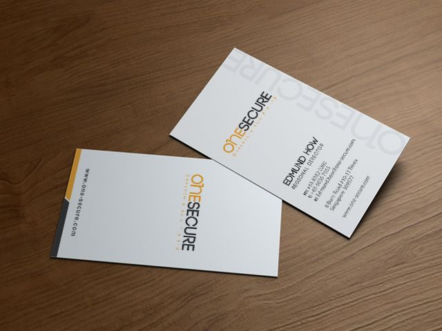 One Secure Business Card #design #corporate #creative #businesscard #collateral #graphicdesign #verzdesign