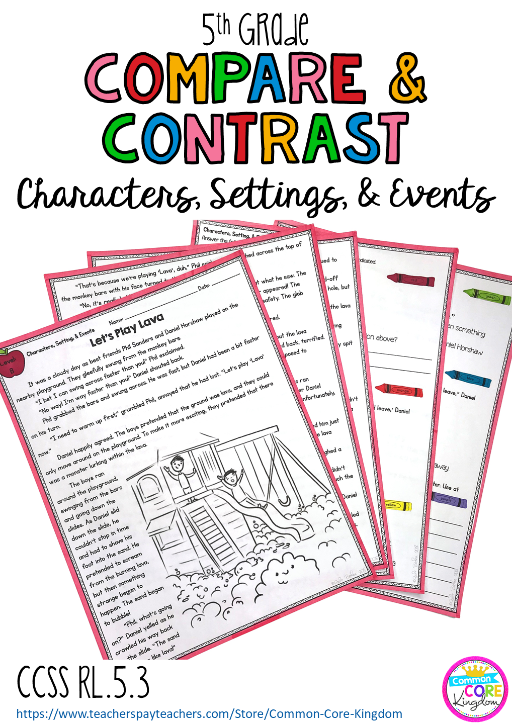 Literature stories and plays (dramas) to teach your 5th graders how to  compa…   Compare and contrast [ 1440 x 1018 Pixel ]