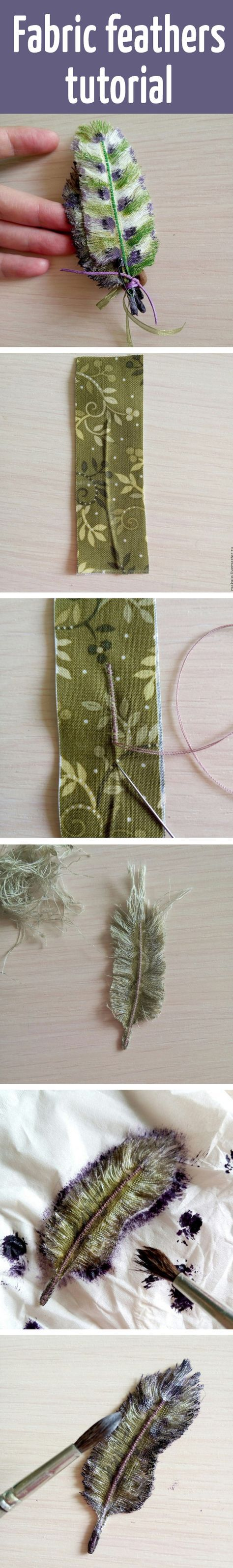 Fabric feathers tutorial #fabric_flower_crafts