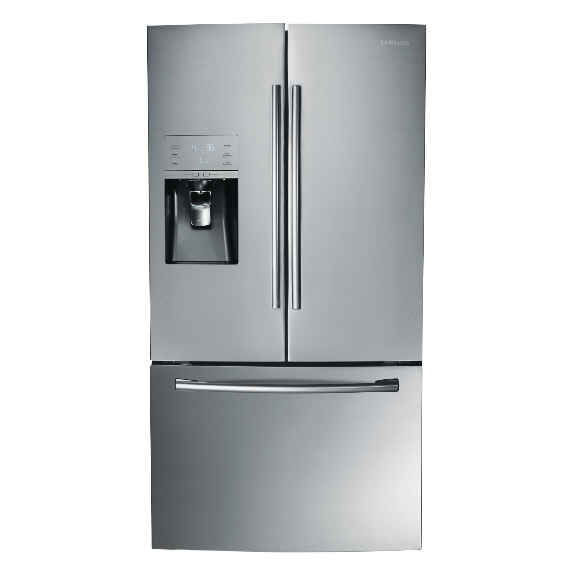 Samsung Rf323tedbsr 32 Cu Ft French Door Refrigerator Stainless Steel With Images Stainless Steel Refrigerator Samsung Refrigerator French Door Refrigerator Sale