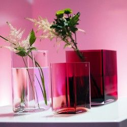 Iitala glass vases with astilbe fronds
