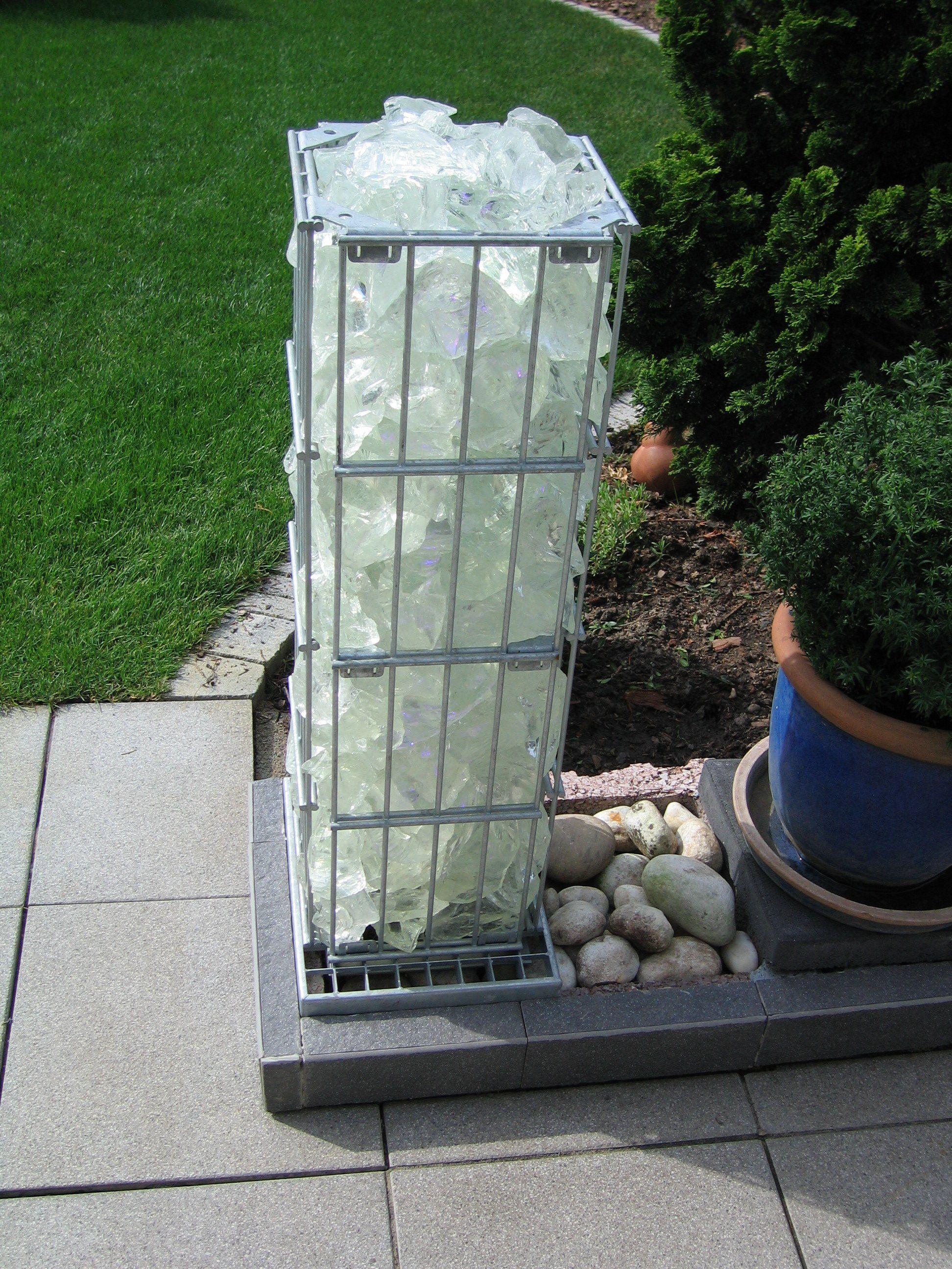 Gabionen Beleuchtung gabionensäule mit led beleuchtung und fernbdienung gabionen