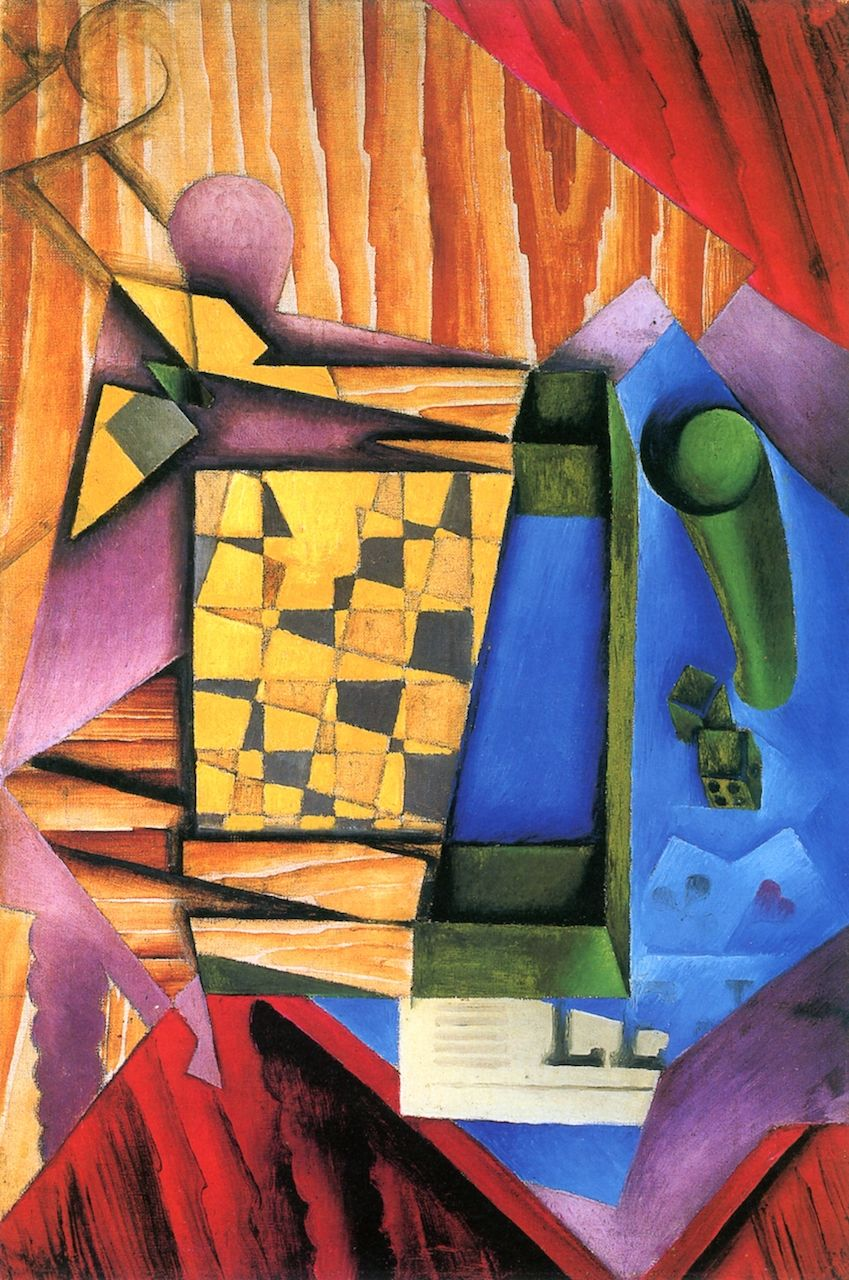 The Game of Backgammon (Juan Gris - )