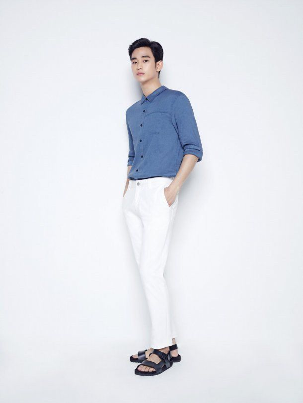 0b391fc83e7c Kim Soo Hyun shows off some cool summer styling in  ZIOZIA ...