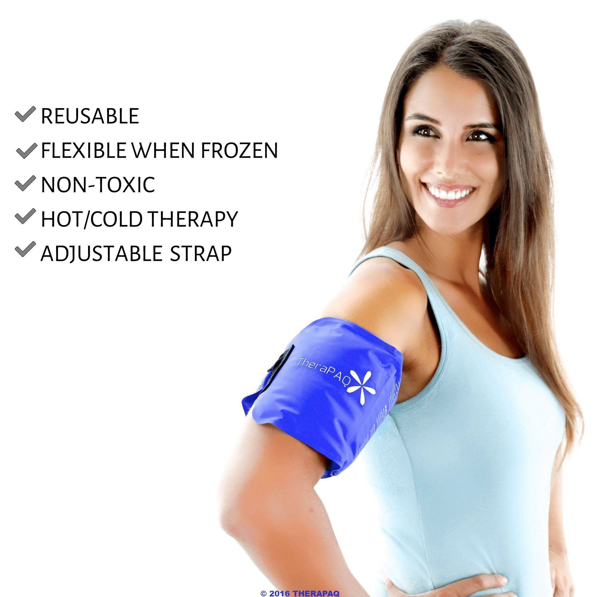 Reusable Ice Pack With Strap By Therapaq Soft And Flexible Gel Pack For Hot And Cold Compress Best As Heat Pad O Cold Therapy Gel Pack Ice Packs For Injuries