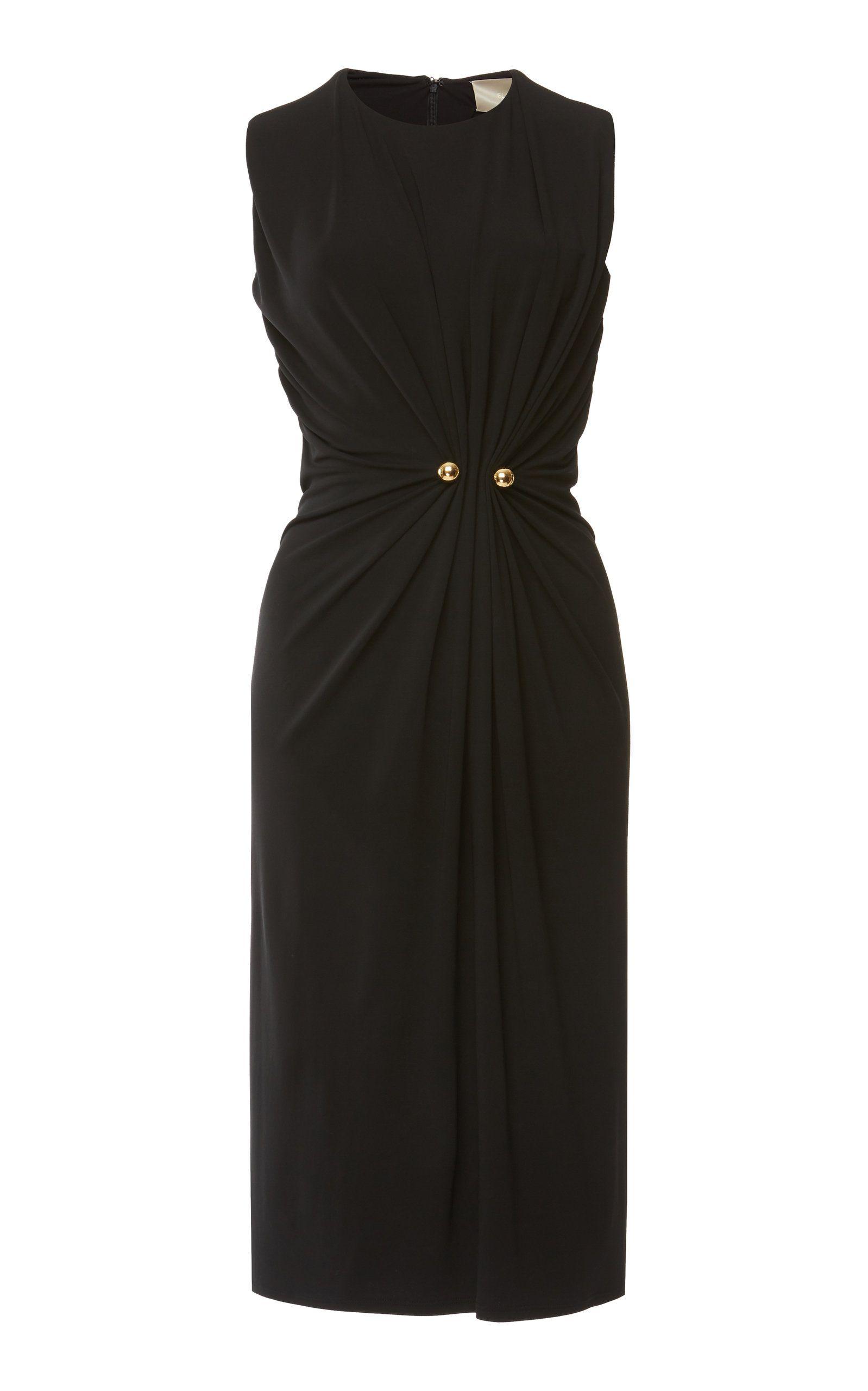 081d3b92b293 Sleeveless Draped Jersey Dress by ELIE SAAB for Preorder on Moda Operandi