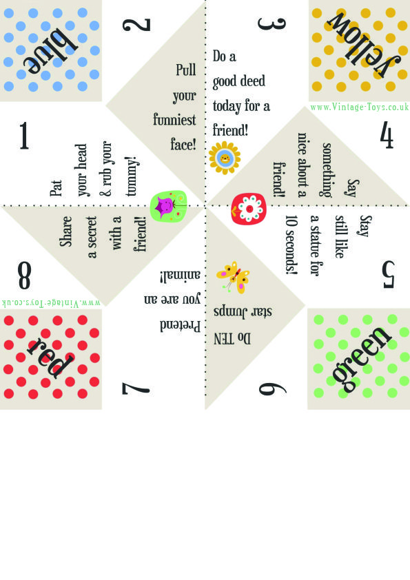 free paper fortune teller printable templates cootie