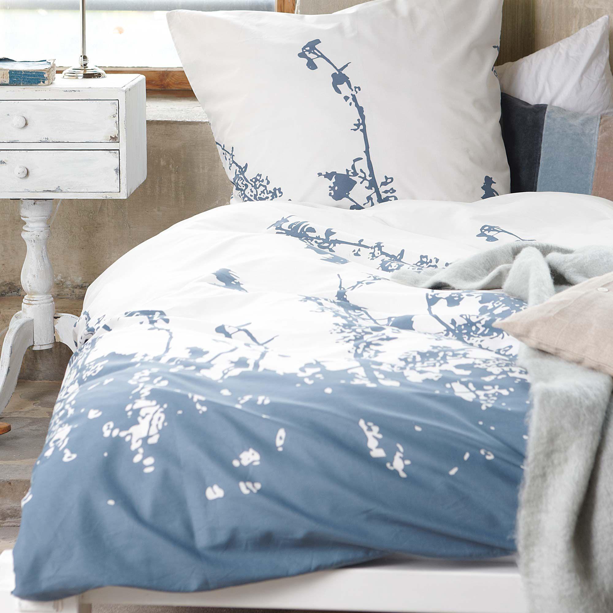 bettw sche mit abstraktem blumenmuster impressionen schlafzimmer pinterest blue bedding. Black Bedroom Furniture Sets. Home Design Ideas