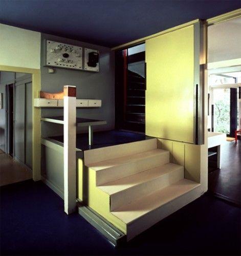 rietveld schrder house stairs escaliers intrieur bauhaus escaliers maison des murs de couleur