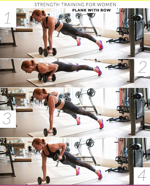 Strength Training: Plank With Row 8 Strength Training Exercises Every Woman