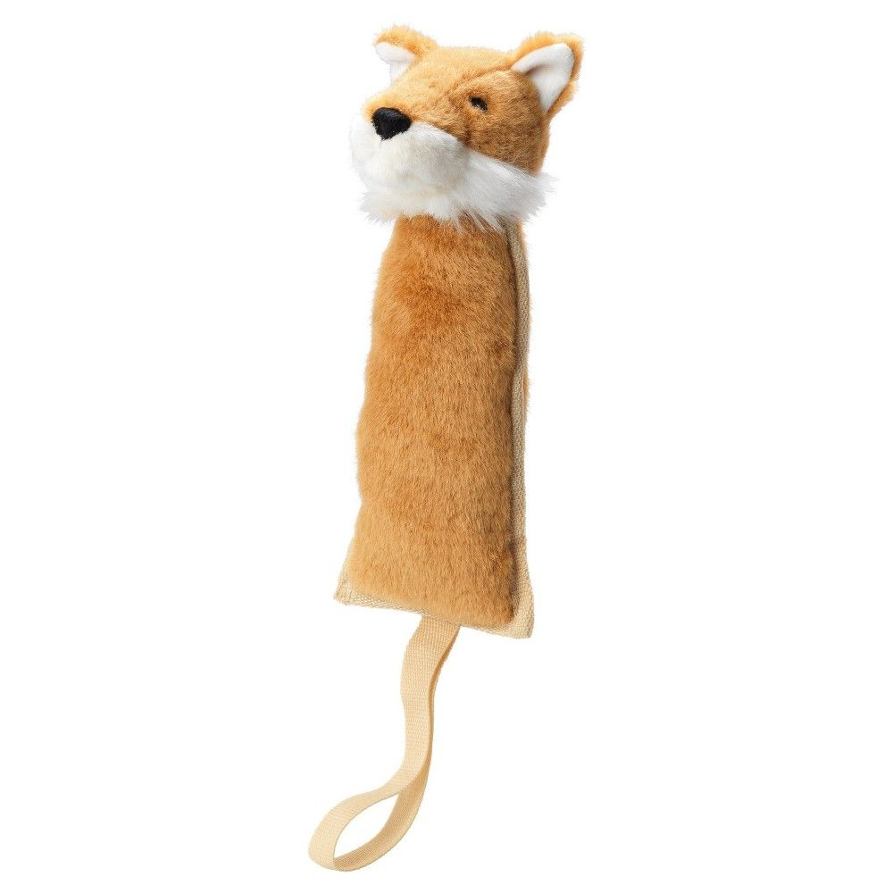 House Of Paws Nylon And Plush Thrower Fox Dog Toy Multi Colored