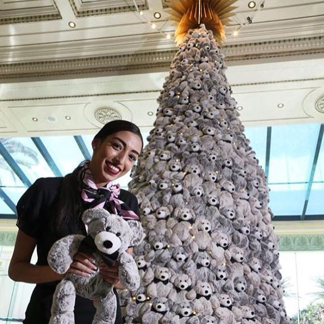 Wishing you a very Merry Christmas with warm regards from the team at Palazzo Versace Gold Coast. Pc; @gcbulletin #hugo #palazzoversacegc #teddybearchristmastree