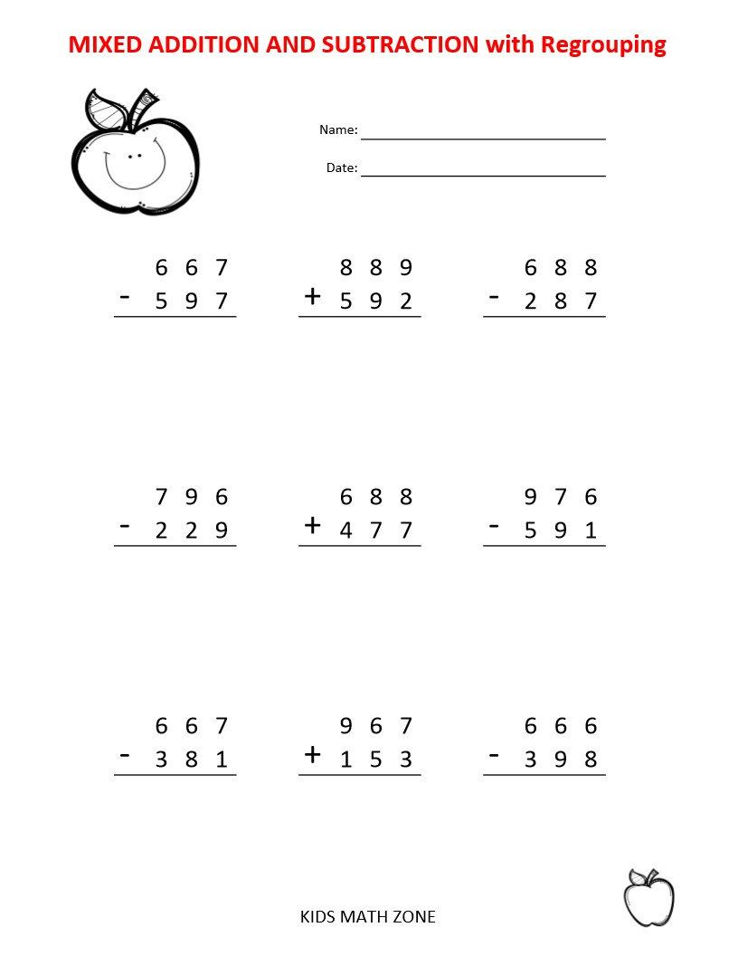 Addition Subtraction 60 Printable Worksheets With Single Etsy In 2020 Kids Math Worksheets Addition And Subtraction Worksheets Printable Math Worksheets