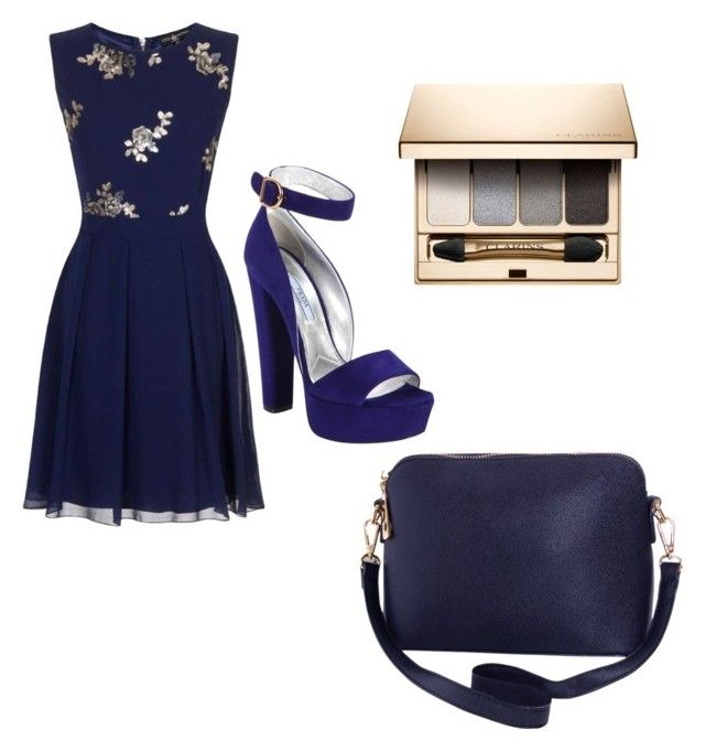 """""""Blue Elegance"""" by livadams206 on Polyvore featuring Prada, Little Mistress, Clarins and Humble Chic"""