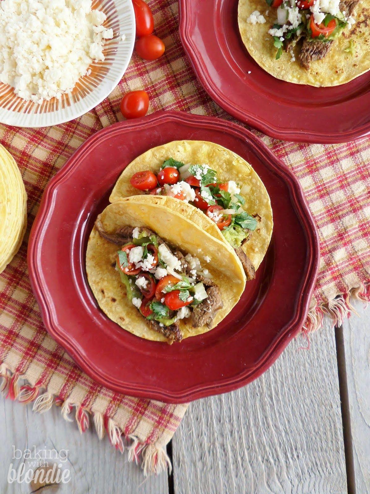 Authentic Carne Asada Tacos - The center of all food and cake recipes #asadatacos