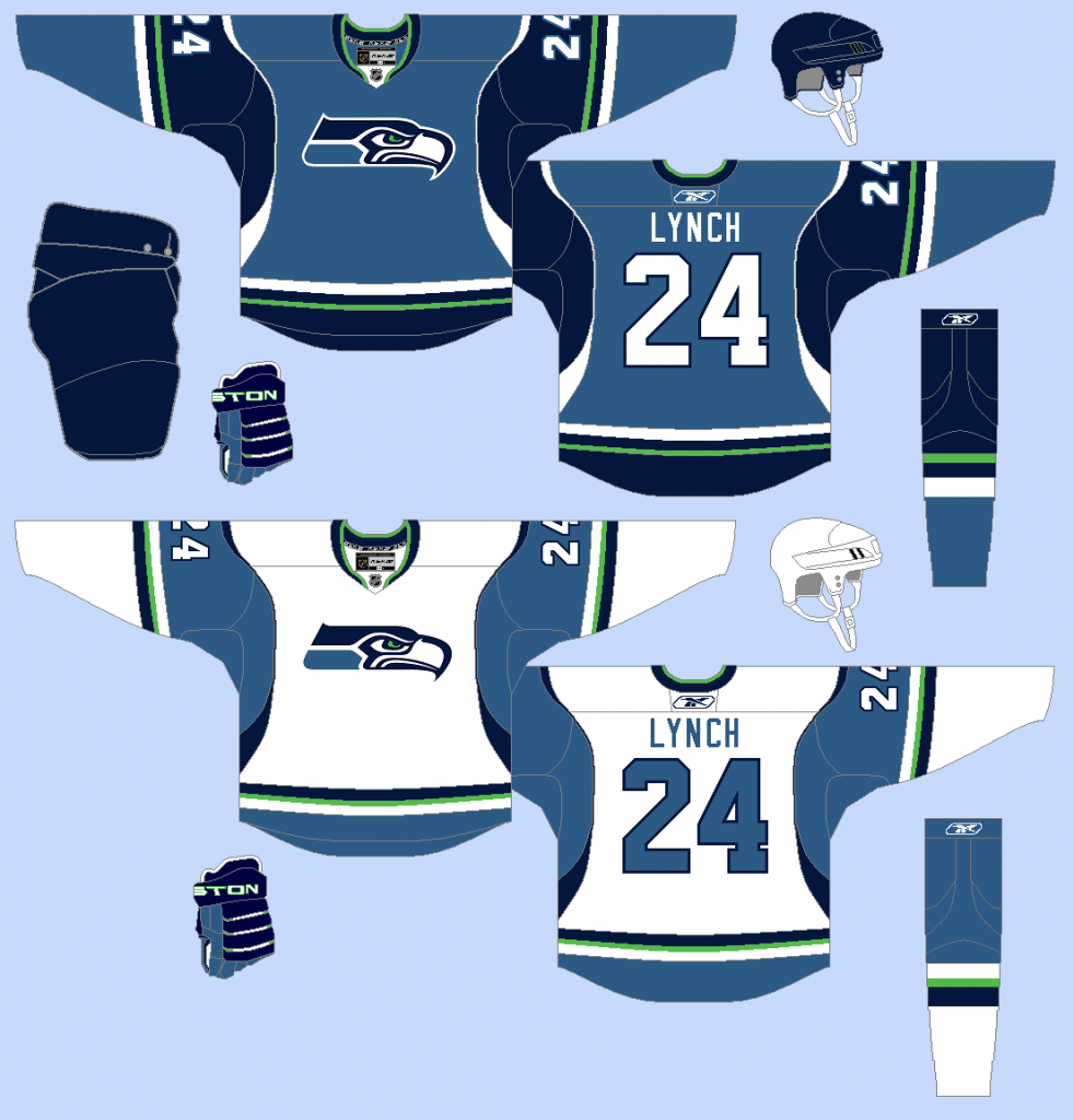 Image result for seattle seahawks hockey jersey