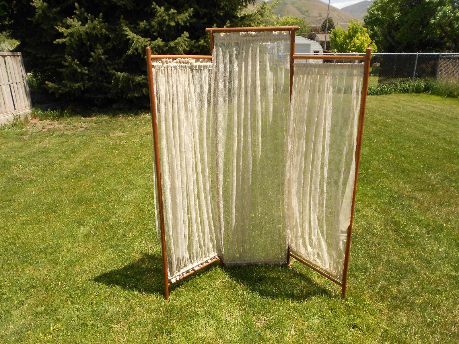 Antique lace victorian panel oak stick and ball dressing room