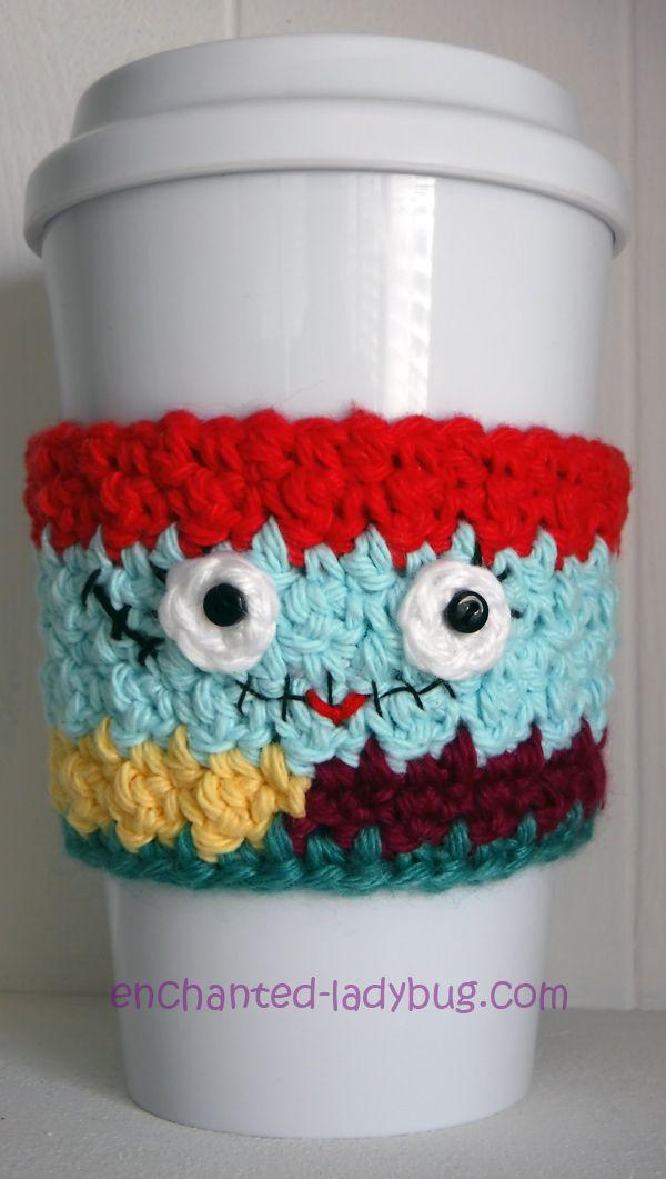 Free Crochet Nightmare Before Christmas Sally Coffee Cup Cozy ...