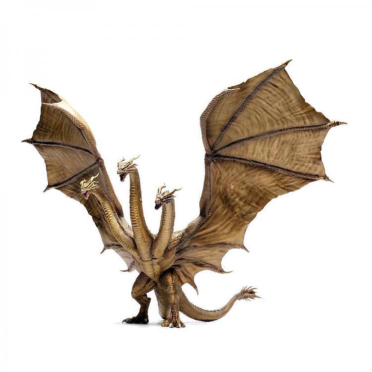 Godzilla King Of The Monsters Chou Gekizou Series Pvc Statue King Ghidorah 53 Cm