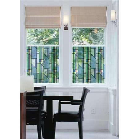 Busko Pattern Window Film Peel And Stick Privacy Stained Glass
