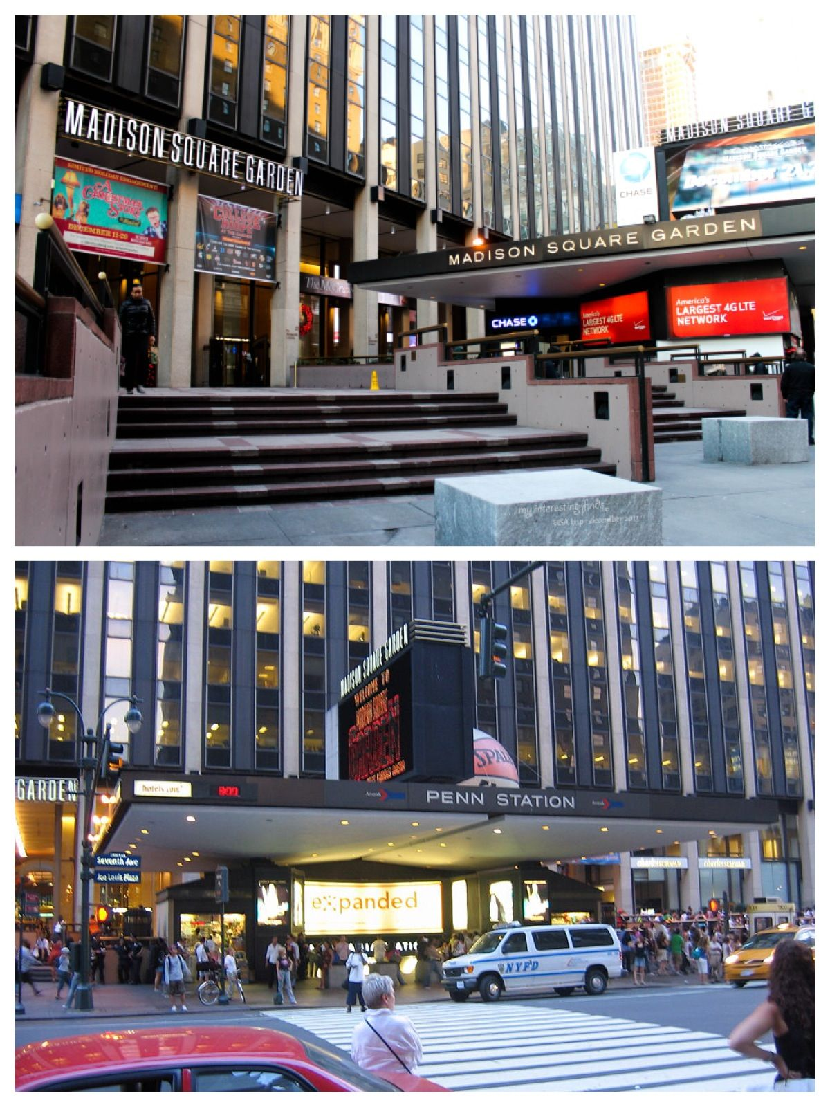 The Seventh Avenue entrance to Madison Square Garden and
