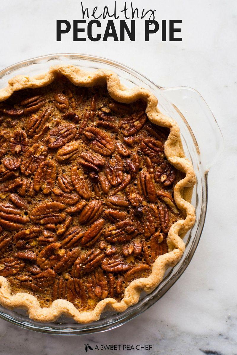 Healthy Pecan Pie #pecanpie