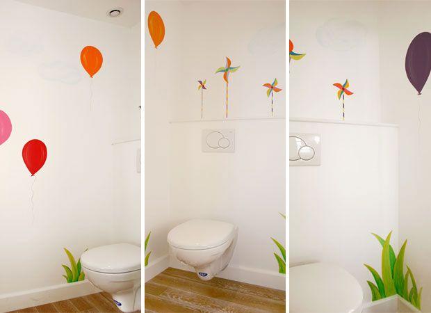 Sabine Design Peintures Fresques Murales Toilette Enfant Realisation De Fresque Murale Decor Ambiance Bebe De Parement Mural Fresque Murale Fresque