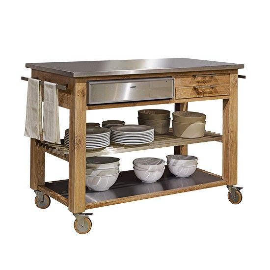 butchers block trolley - Google Search kombuis Butchers block trolley, Butcher block tables ...