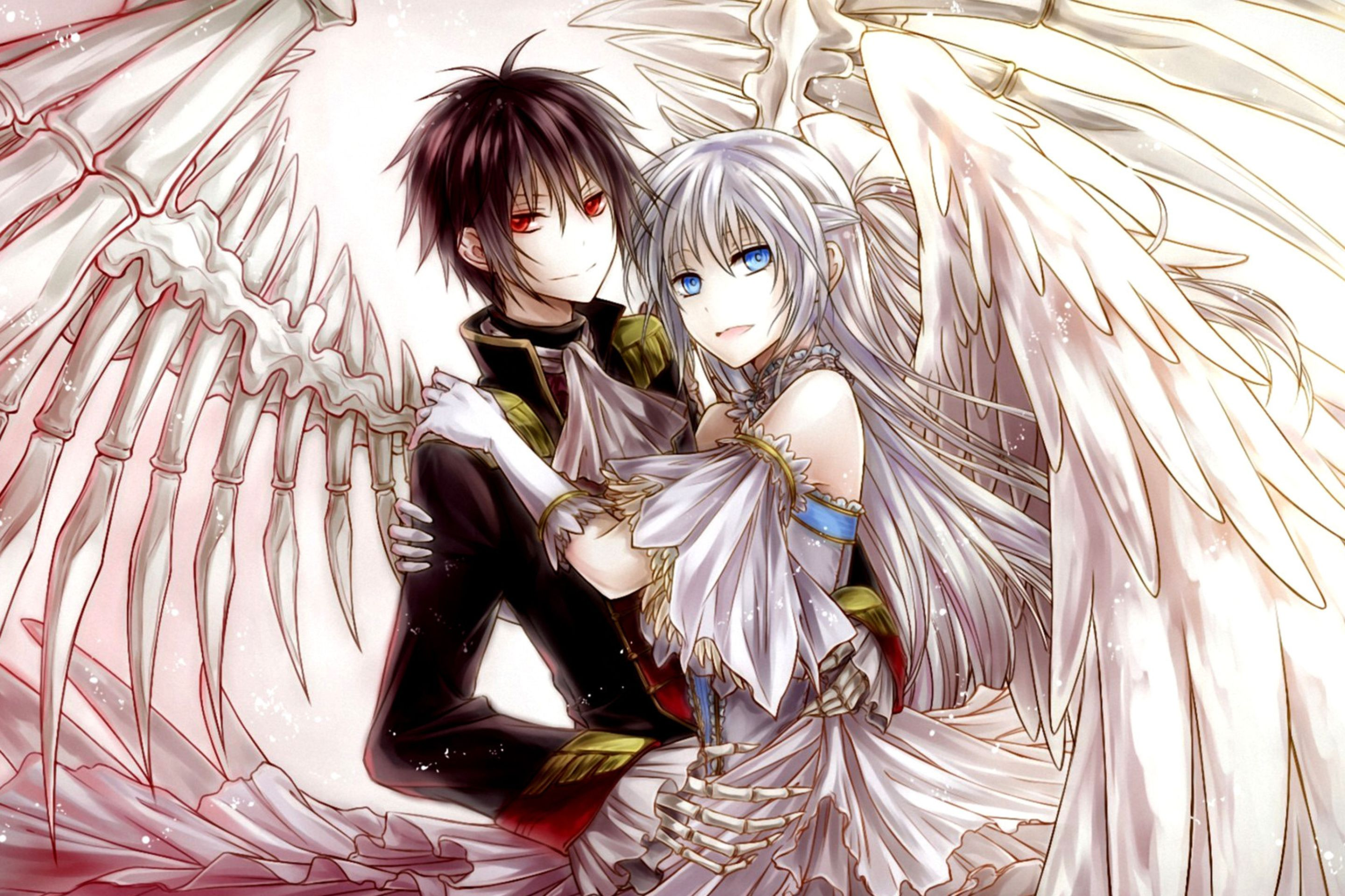 anime angel and demon love anime in 2018 pinterest anime angel