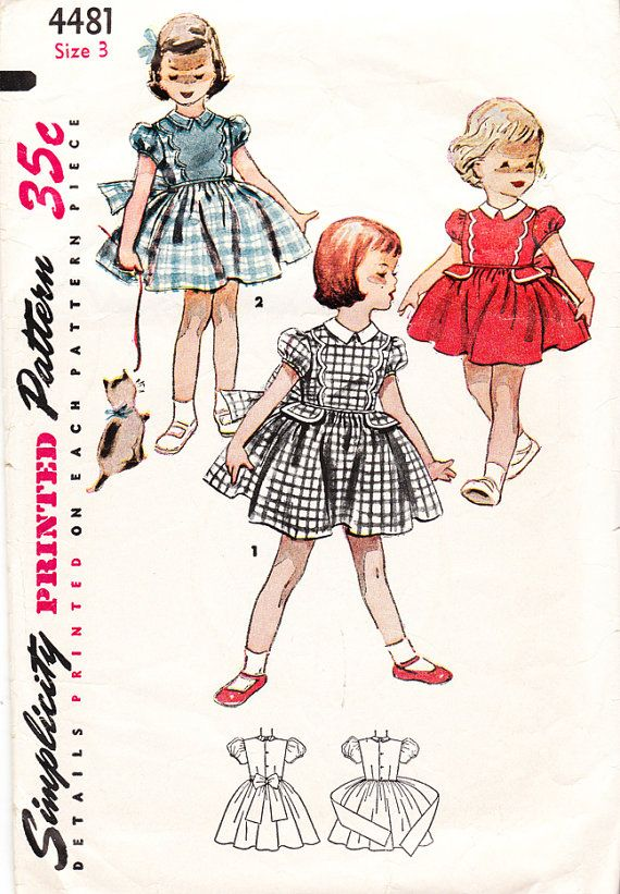 Vintage 1950s Bouffant Dress for Girls and by daisyepochvintage, $6.00