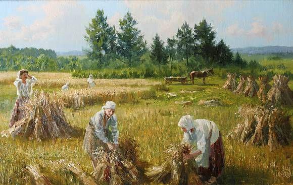 На жнивье., автор Владимир. Артклуб Gallerix