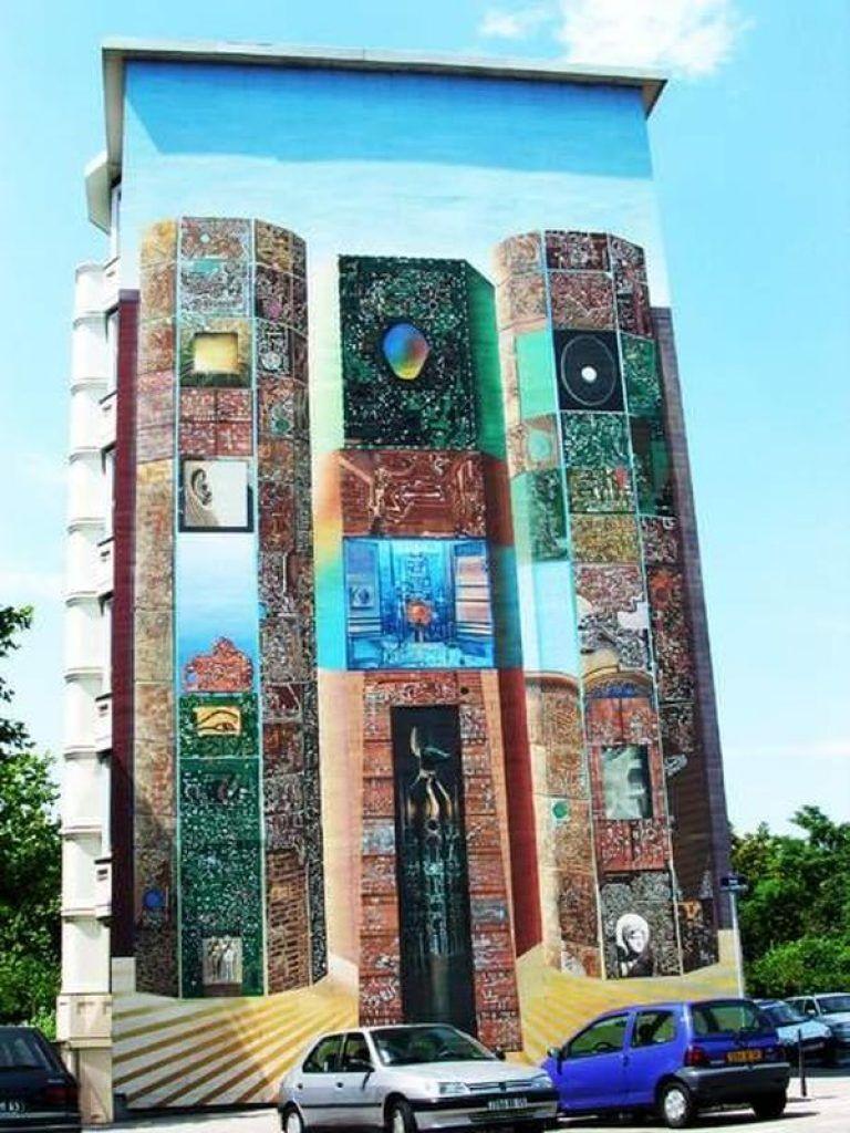 рисунки на зданиях фото наружние